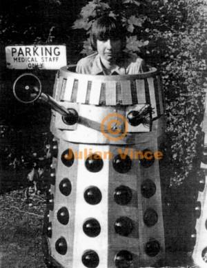 Katy Manning Dalek Photo Shoot