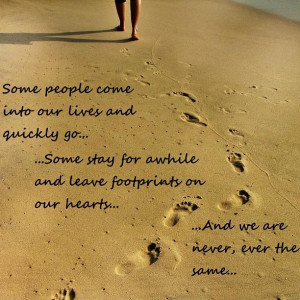 Footprints Of Love Forever Print by Rishi Sood