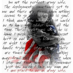 army wives deployment quote - good thought...minus the
