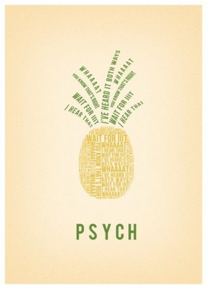Psych pineapple print