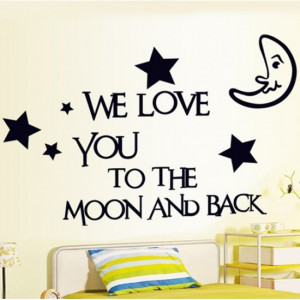 Moon and Star Good Night Quotes - Love Wall Quotes