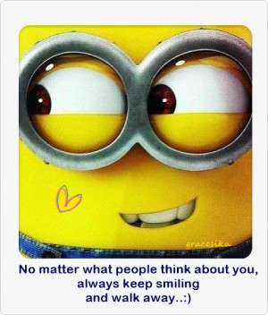 cute minion motivational quote smile yellow