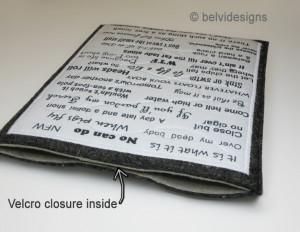 Handmade Apple iPad sleeve / case / cover -