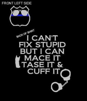 Funny Black police shirt by Niwid on Etsy, $15.00