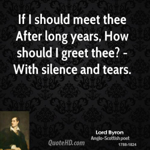 Lord Byron Quote Should...