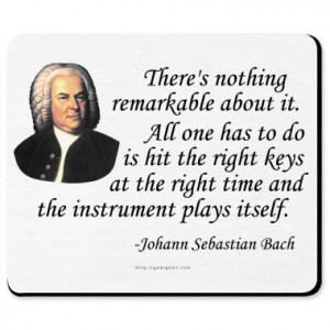 bach quotes Bach Quote Mousepad