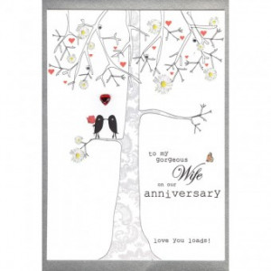 To My Gorgeous Wife Anniversary Card