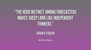 The herd instinct among forecasters makes sheep look like independent ...