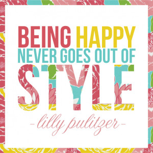 Lilly Pulitzer Typographic Quote Art from May Richer Fuller Be