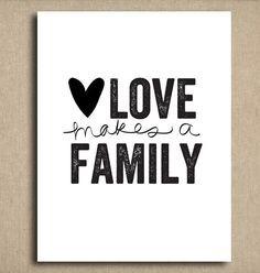 Amour fait une famille - familles est si différents de nos jours et ...
