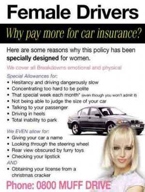Female Driver Insurance has a funny rating of 3.55
