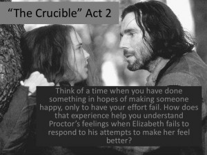 examples of integrity in the crucible Notes the crucible podcast summary of the stages of proctor's redemption theme of integrity and power essay proctor's integrity is brought into question at the.