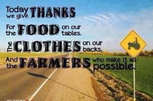 Give thanks for farmers - thanks to my daddy who brought me up this ...