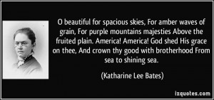 Katharine Lee Bates Quote