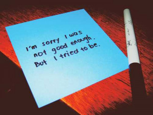 Im Sorry I Was Not Good Inspirational Life Quotes