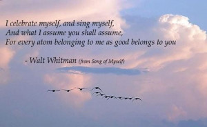 Poems about life whitman i celebrate airborne spirits sharani
