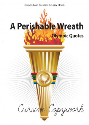 Olympic Quotes Copywork - Cursive