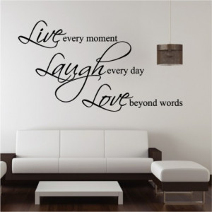 Live, Laugh,Love Wall Quote Sticker by Abode Wallart at Bouf.com
