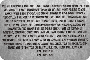 The best wedding vows ever.