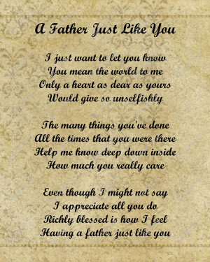 Happy Fathers Day Poem Card