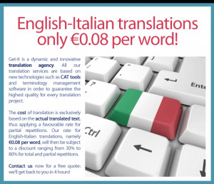 Get a free quote for your English-Italian translation now!