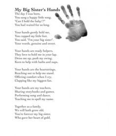 Big Sister/Big Brother Poem By Patsy Gaut - Child's ... | Quotes
