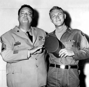 "Jackie Gleason and Steve McQueen from the movie ""Soldier in the Rain ..."