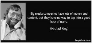 Big media companies have lots of money and content, but they have no ...