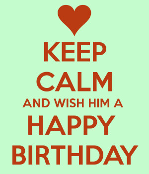 happy birthday for him