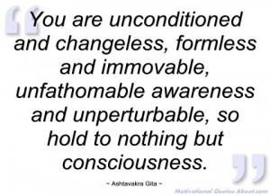 you are unconditioned and changeless ashtavakra gita