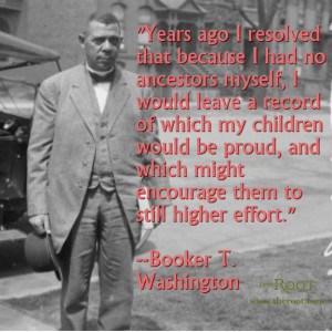 Best Black History Quotes: Booker T Washington on Legacy