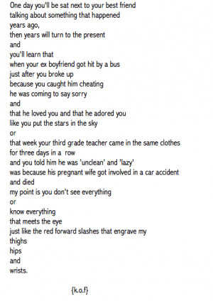 Self Harm Quotes And Poems Self harm cutting tumblr