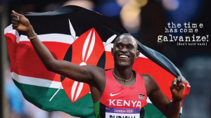 David Rudisha after his win in the olympics