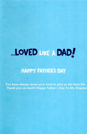 just like a father should happy father s day stepdad