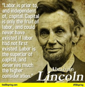 Great quote from Abe