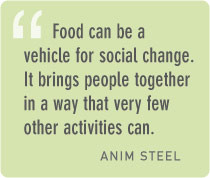 How is food a catalyst for personal transformation and social change?