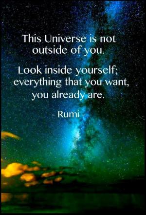RUMI ~ Quote ~ Universe ~ Life