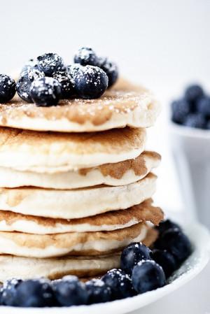 blueberry pancakes- with multigrain fibrous mix + sweet antioxidant ...