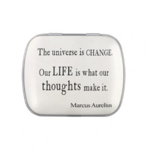 Vintage Marcus Aurelius Universe Change Life Quote Jelly Belly Tins