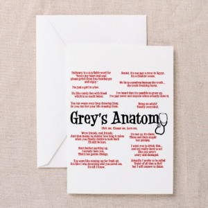 Anatomy Gifts > Anatomy Greeting Cards > Grey's Anatomy Quotes ...
