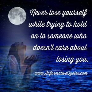 ... you will find someone who loves you and will treat you like you like