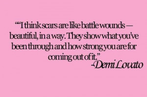 Demi lovato quotes sayings about scars