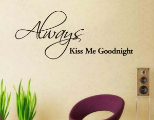 ... Me Goodnight Wall Decal Sticker Romantic Quote Wall Lettering Wall Art