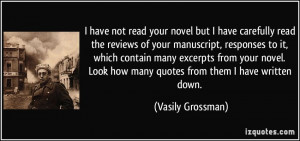 your novel but I have carefully read the reviews of your manuscript ...