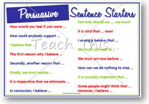 Sentence stems for argumentative essay quotes