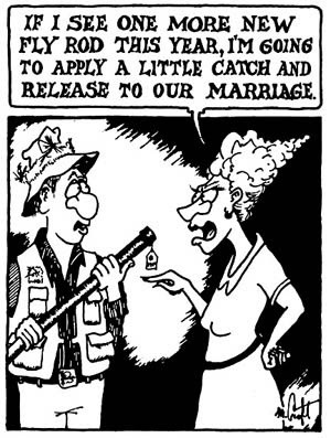 Funny fishing cartoon.