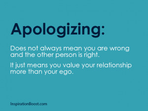Apologizing Does Not Always Mean You Are Wrong And The Other Person Is ...