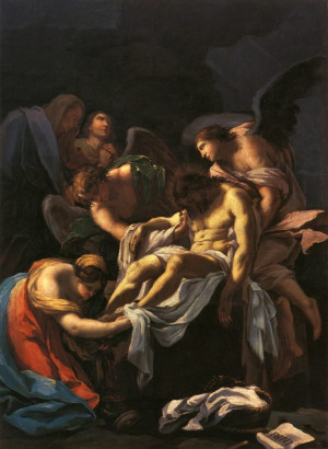 enterrement du Christ, par Francisco Goya