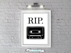 ... funny decor art quote cassette tape retro print digital diy pdf jpeg