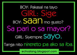 ... boy saan mo gusto sa pari o sa mayor girl siyempre sayo tanga nito